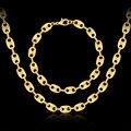 Dubai chapado en oro de joyería de moda clásico Africano sistemas de la joyería de compromiso de la boda simple collar de la pulsera para los hombres y mujeres de regalo