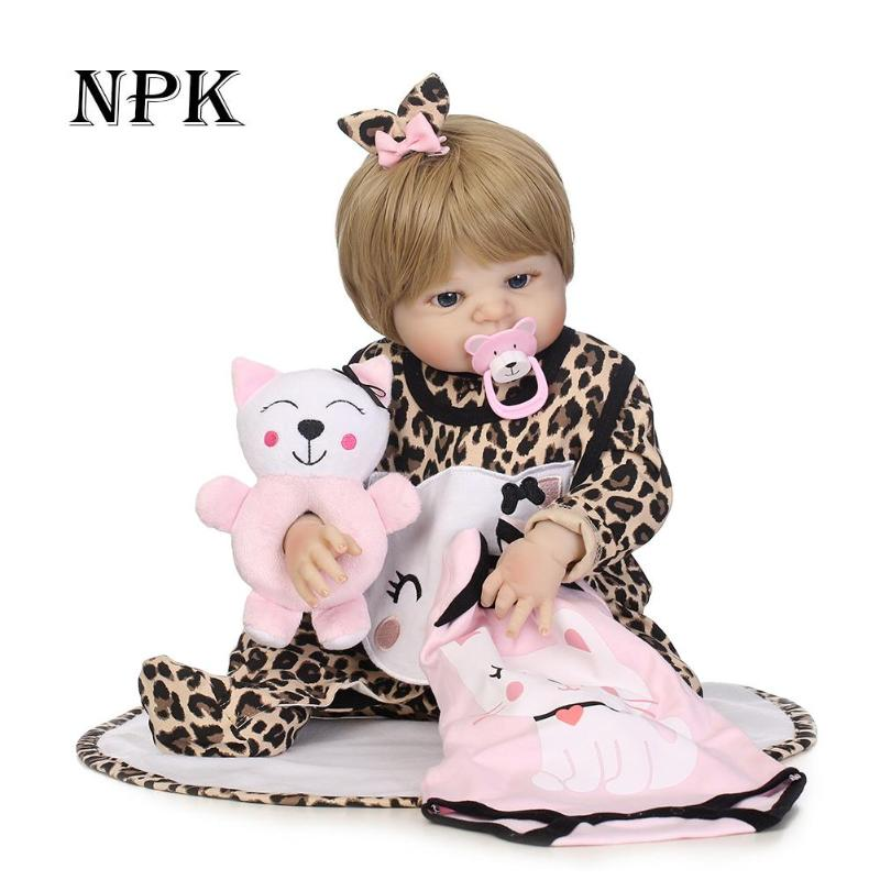 NPK Real 56CM Full Body SIlicone Girl Reborn Babies Doll Bath Toy Lifelike Newborn Princess Baby Doll Boneca Reborn Kids Gift npk black skin full silicone girl pacifier model baby dolls 56cm lifelike reborn baby boneca can enter water bath doll toys