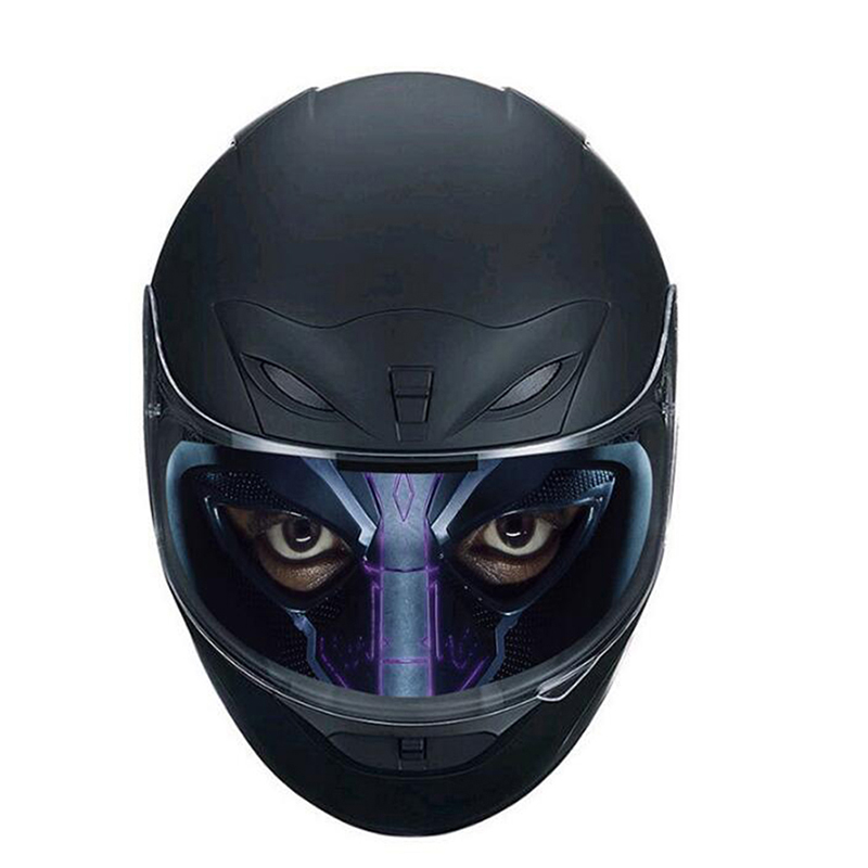 Detachable Racing Translucent Lens Decal Motorcycle Helmet Decoration Sticker Helmet Lens Visor Cool Applique Personality Film