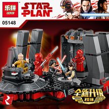 Лепин 05148 Star Wars серии Snoke трон комнате совместимый Legoing 75216 блоки кирпичи здание Развивающие игрушки модель подарки