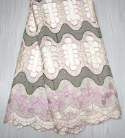2015 Latest 100% Cotton African Swiss Voile Lace with stones High Quality 5Yards