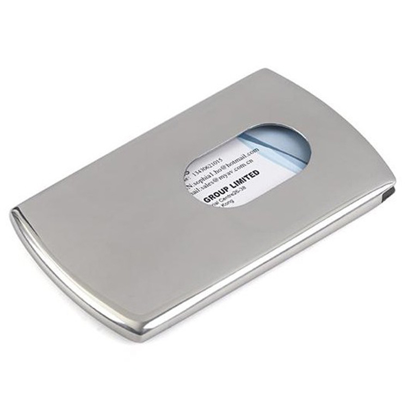 304 stainless steel thumb slide out business cards holder card 304 stainless steel thumb slide out business cards holder card pocket unisex cards portable card id holders aluminium boxes in card id holders from colourmoves Image collections