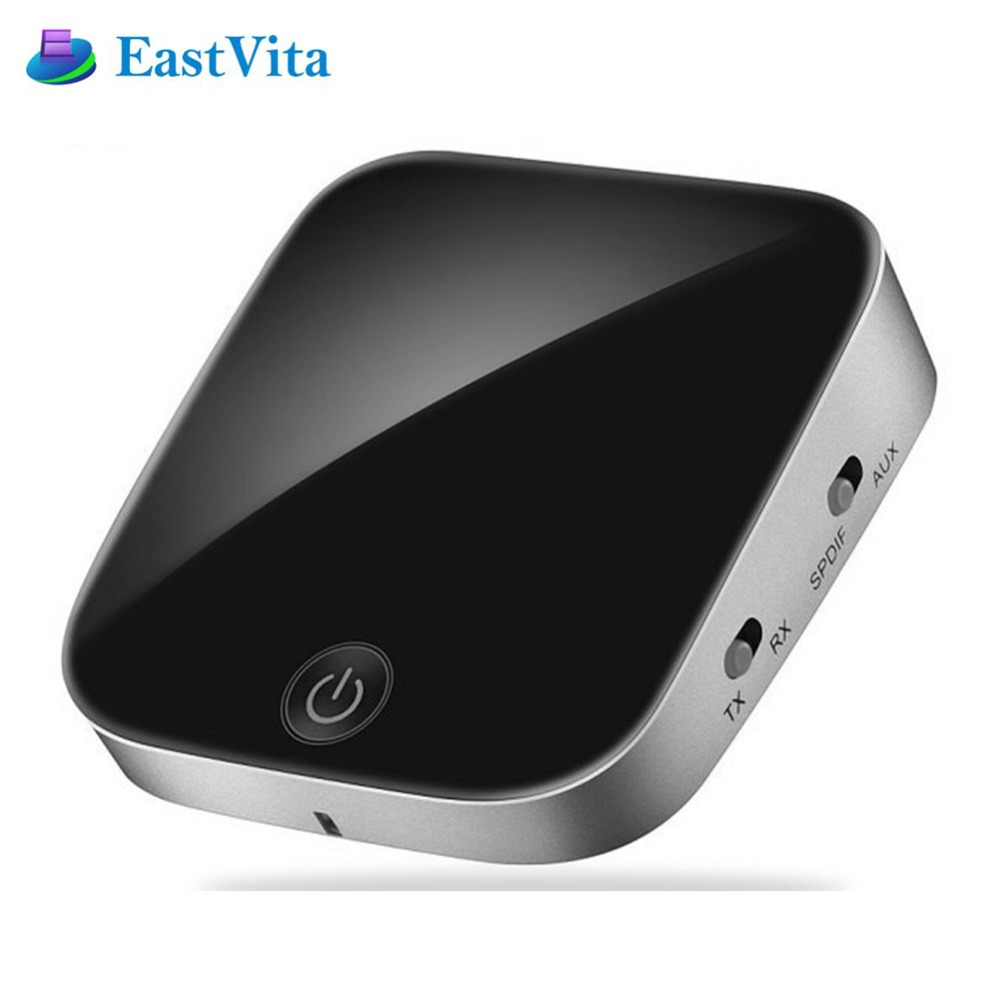 EastVita Bluetooth Sender Empfänger Wireless Audio Adapter mit Optische Toslink/SPDIF/3,5mm Stereo Ausgang Unterstützung SBC RX ACC
