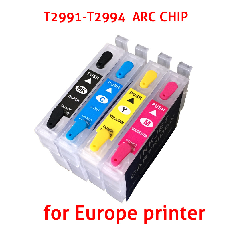 4pc for Epson 29 XL T29XL T2991 Ink Cartridges with ARC chip Compatible for Epson XP235 XP-332 XP-335 XP432 XP-435 ink cartridge empty ink cartridge for epson 4910 with arc chip for epson t6551 t6559 t655a t655b ink cartridges