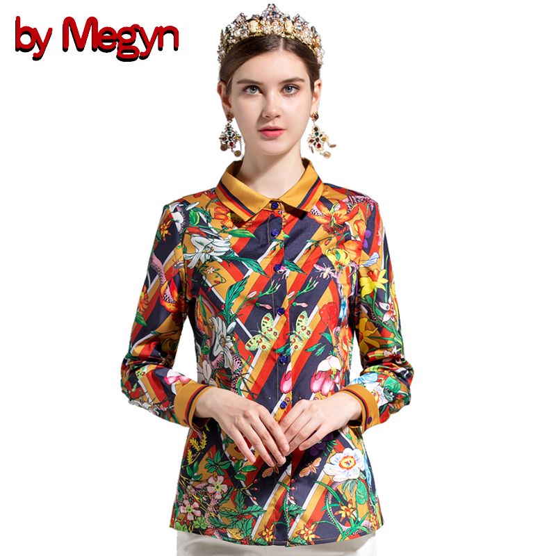 14c1c7e45c2c1 by Megyn summer blouse women fashion butterfly floral snake print blouses  long sleeve shirts plus size womens tops and blouses