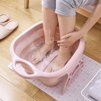 Foot Soaking Bucket Folding Basin Plastic Foaming Massage Bucket Household Sauna Bathtub Pedicure Bath Foldable Bathtub