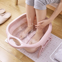 Foot Soaking Bucket Folding Basin Plastic Foaming Massage Bucket Household Sauna Bathtub Pedicure Bath Foldable Bathtub
