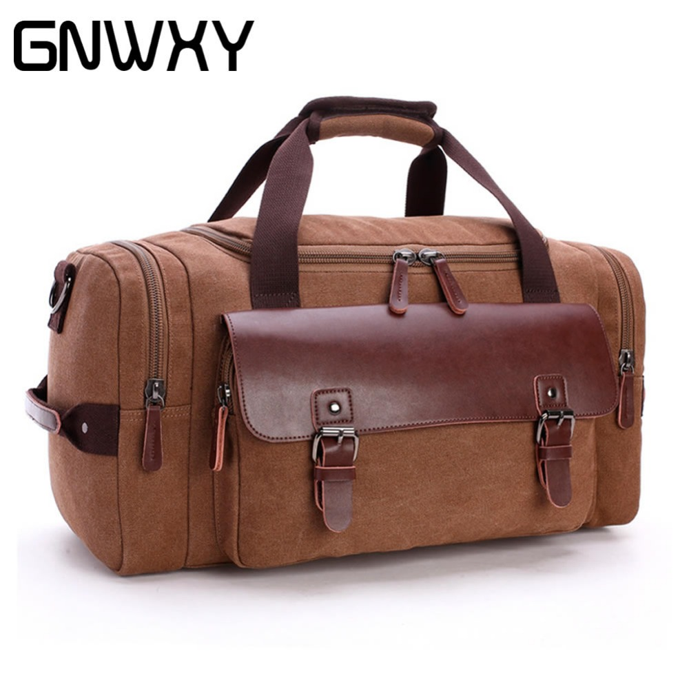 GNWXY Large Capacity Travel Bag Men Business Hand Luggage Duffle Bags Male Fashion Crossbody Bags 6 Colors Big Tote Weekend Bag bopai brand luggage bag large capacity men travel bags weekend travel duffle bag tote crossbody travel shoulder bags 2 size