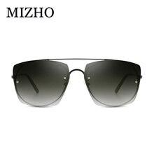 MIZHO 2019 Fashion New Rimless Sunglasses Women Trendy Luxury Brand Designer Mujer Ladies Sunglass Tinted UV400 Eyewear Oculos