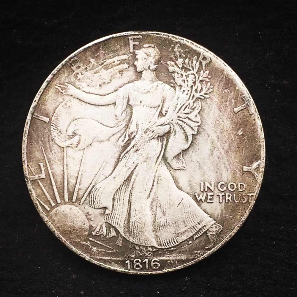 1816 Moedas de Cobre Antigo Velho EUA Cópia Réplica Moeda de Colecção de Passeio Da Liberdade de Prata Dólar Comercial Presente Da Arte