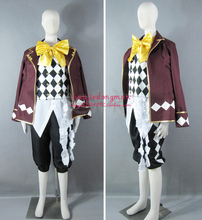 2016 Black Butler Book of Circus Joker Man And Women Cos Anime Cosplay Costume Uniforms Clothing
