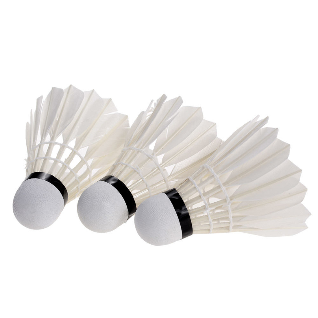 3 Pcs Portable White Duck Feather Shuttlecock Training Badminton Balls Shuttlecocks Sport Products