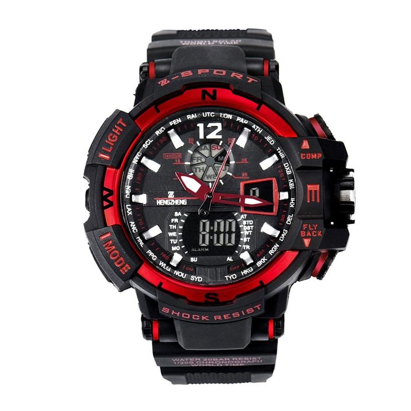 Gelernt Heißer Verkauf Fabulous 2017 Neue Uhren Herren Rubber Band FÜhrte Digitalen Sportwasserdichte Tauchen Quarz-armbanduhr Uhren