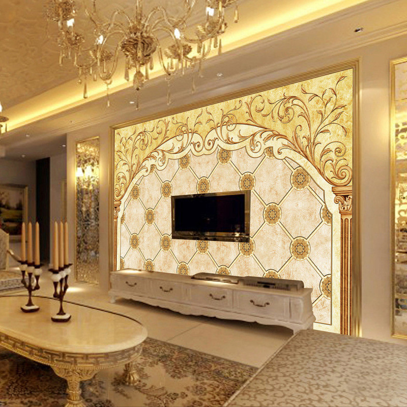 Custom Wall Mural Wallpaper European Style TV Background Wall Painting Living Room Sofa Home Wall Decoration Art Wall Paper 3D