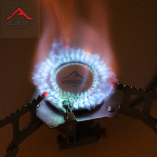 Widesea Outdoor Gas Stove Camping Gas burner Folding Electronic Stove hiking Portable Foldable Split Stoves 3000W 5