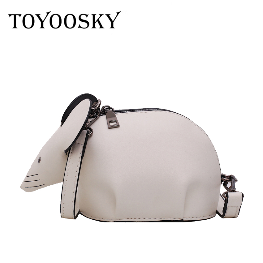 TOYOOSKY Fashion Creative Cartoon Handbags 3D Funny mouse Animal Cute Messenger Bag Soild Shoulder Crossbody Bags For Girls in Shoulder Bags from Luggage Bags