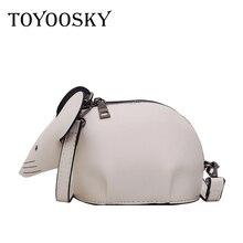TOYOOSKY Fashion Creative Cartoon Handbags 3D Funny mouse Animal Cute Messenger Bag Soild Shoulder Crossbody Bags For Girls
