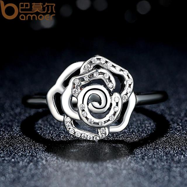 Sterling Silver Delicate Rose Flower Ring