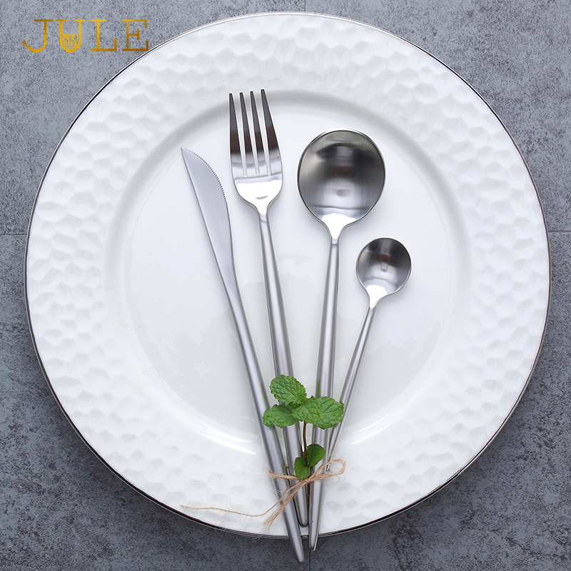 Billig vestlig luksuriøst servisesett 24-deler / sett 18/10 - Kjøkken, spisestue og bar