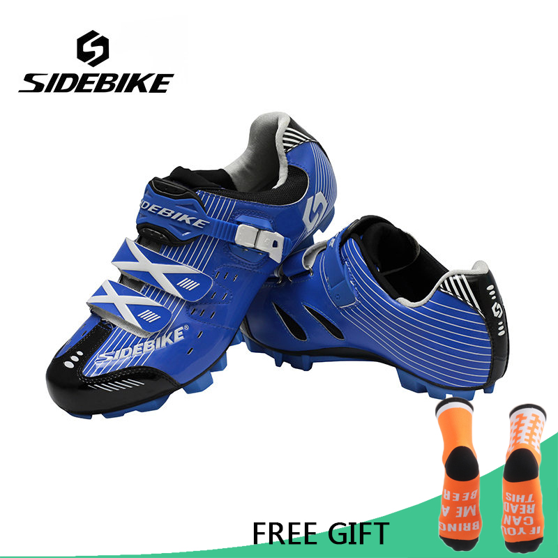Sidebike Men Bicycle Cycling Shoes Breathable Non-Slip MTB Auto-Lock Bike Shoes Ultralight Zapatillas Zapato Ciclismo racmmer cycling gloves guantes ciclismo non slip breathable mens