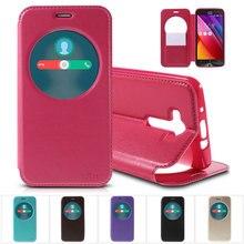 Рев принципиально благородный для Asus Zenfone 2 Laser ZE550KL Z00LD 5.5 »телефон сумка круг Вид из окна PU кожаный чехол Для Zenfone2Laser
