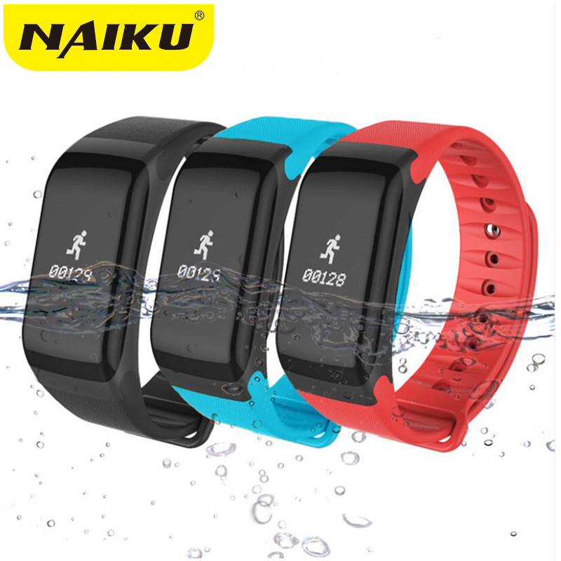 NAIKU Fitness Tracker Wristband Heart Rate Monitor Smart Bracelet F1 Smartbracelet Blood Pressure With Pedometer Bracelet 2017 new sunkinfon fitness tracker wristband heart rate monitor smart band skf1 smarband blood pressure with pedometer bracelet