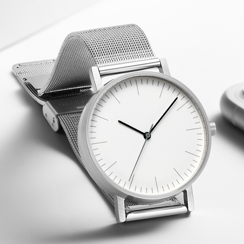 Minimalist Swiss Movement Stock Stainless Steel Mesh Leather Watches Bracelet Quartz Fashion Luxury Brand Dress Watch