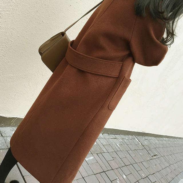 Plus Size 5XL 6XL Autumn New Wool Coat Women Manteau Femme Winter Coat Women Fashion Elegant Long Woolen Coat Warm Parka C4940 4
