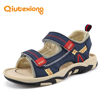 QIUTEXIONG Summer Beach Sandals For Boys Kids Sandals Children Shoes Breathable Cut outs Quick dry School Sport sandalia Shoe