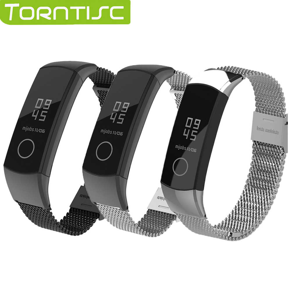 Torntisc Metal huawei Honor Band 4 5 Strap Stainless Steel Detachable Wristband Smart Accessories For huawei Honor Band 4 5