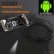 Esddi New HOT 7mm Lens 1/1.5/3.5/5M Android Phone Endoscope IP67 Borescope LED Camera Snake video Snake Inspection Tube Pipe Cam(China)