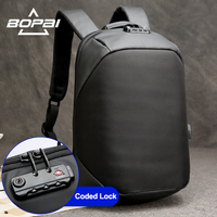 Waterproof 14 15 Inch Laptop Backpack With Coded Lock Mochilas Business Men S Travel Backpack USB