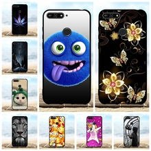 For Huawei Y6 2018 Prime Case Soft TPU Silicone Honor 7A Pro Cover Cute Pattern Enjoy 8e Coque