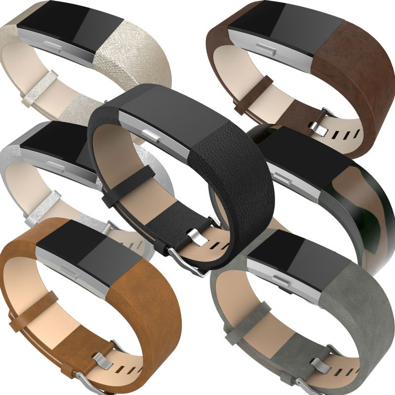 For Fitbit charge 2 bands leather,Accessories Leather Bands strap for Fitbit Charge 2,Fits 5.9-8.1 inch Wrist 7 colors