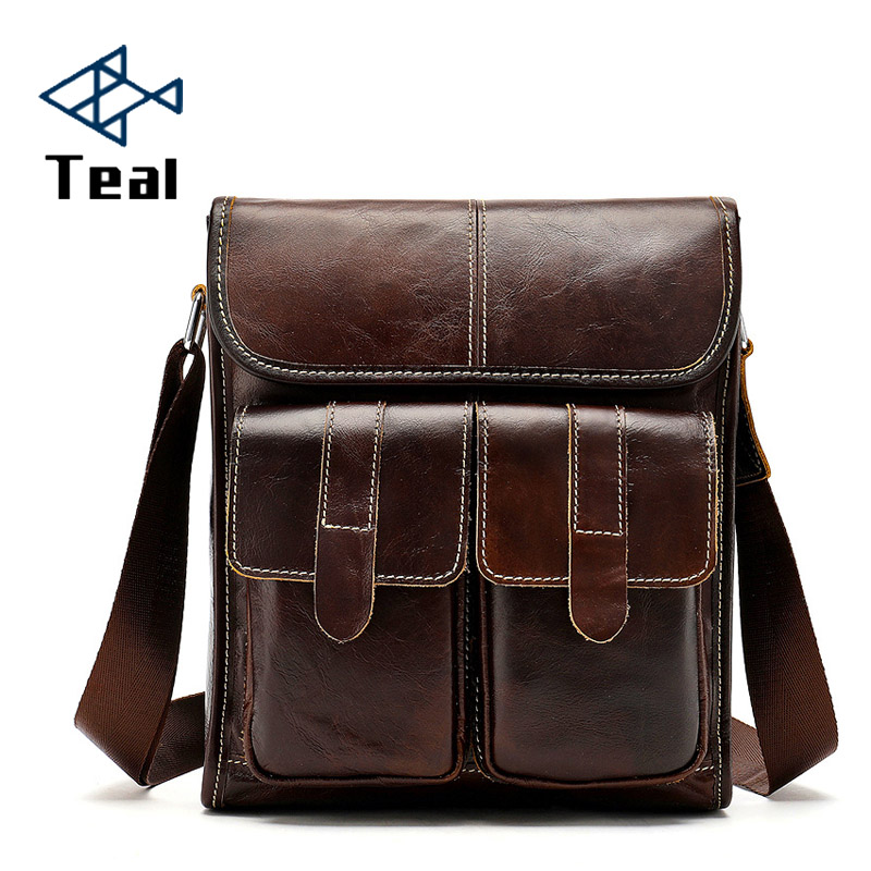 2019 New Fashion Men Briefcase Bags Genuine Leather Large Capacity Bag Male Vintage Bags Luxury Brand Casual Shoulder Bag