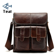 Men bag Genuine Leather briefcase male luxury Designer business casual bags High capacity vintage New fashion