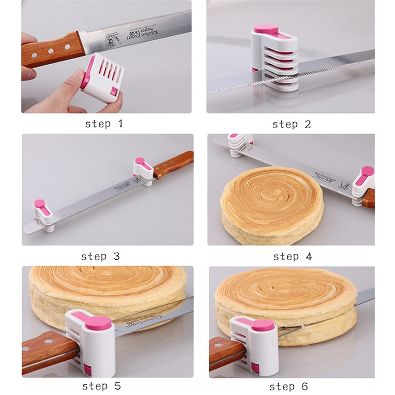 1Pc Plastic DIY Cake Bread Cutter Leveler Slicer Cutting Fixator Kitchen Accessoires Bakeware Backing Pastry Tool (5)