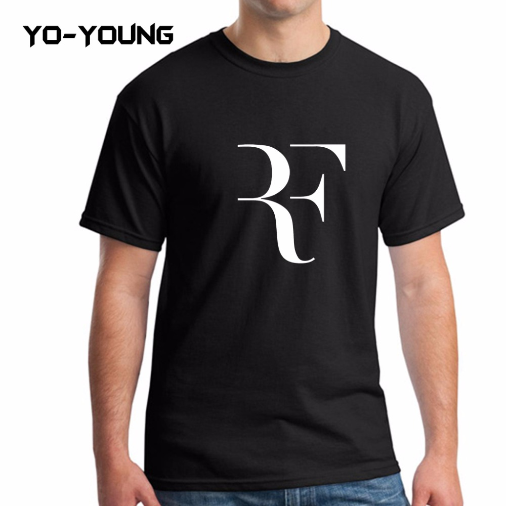 Roger federer rf fashion fashion men t shirts letters for Quality shirts for printing