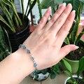Turco Mal de Ojo de Cristal Pulsera de Cristal Azul Hamsa Mano de Fátima Charm 6mm Grano de la Joyería de Las Mujeres Nazar Kabbalah Judía Árabe islámico