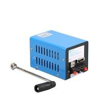 חיצוני 20W רב פונקציה נייד ידני Crank גנרטור חירום הישרדות אספקת חשמל חיצוני כלים