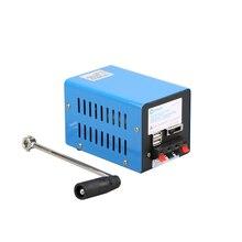 야외 20W 다기능 휴대용 수동 크랭크 생성기 긴급 생존 전원 공급 장치 야외 도구