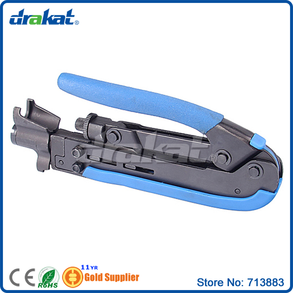 Metal Terminal Cable Crimping Tool for F connector RG59 RG6 (5C) RG11