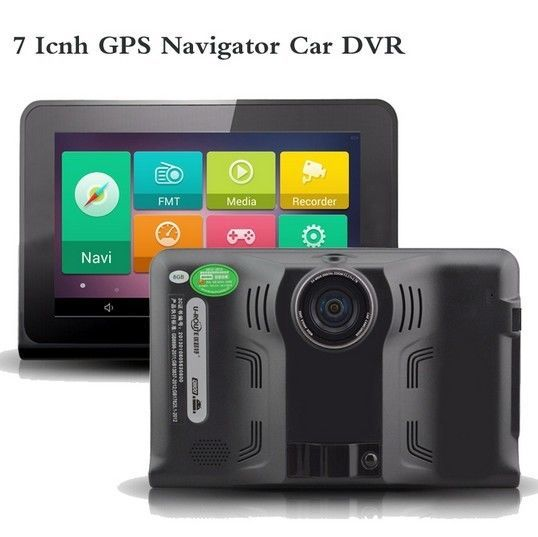 "7 ""capacitiva Android Tablet PC Gps WiFi DVR Coche Cámara Full HD 1080 P Con Camión Vehículo Detector de Radar GPS Navigator"
