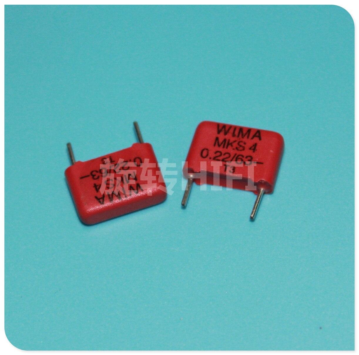 20-PCS LOT Wima Capacitor 0.47UF 63V 10/%
