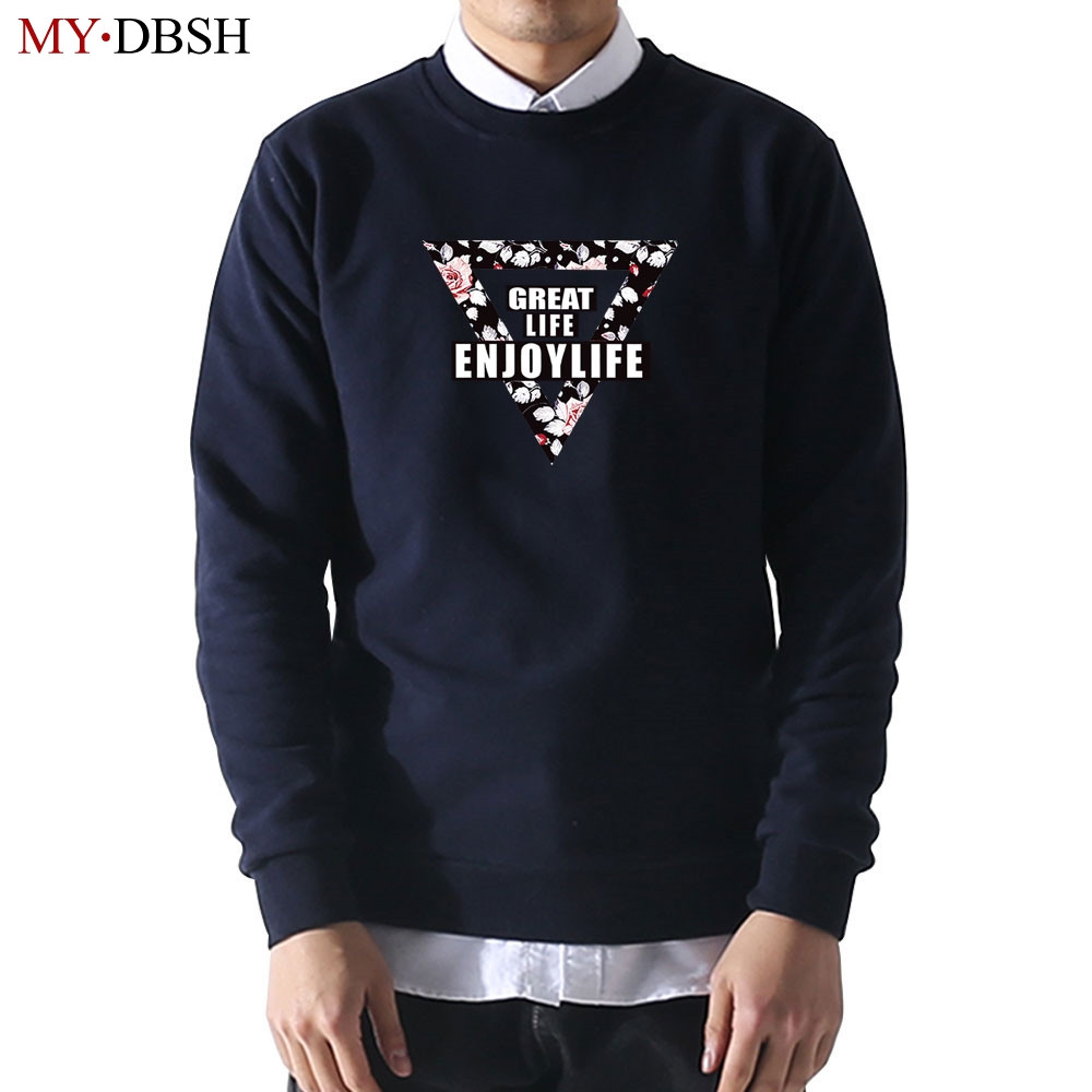 Enjoy Life Hoodies Men Harajuku Printed Hooded Pullover High Street Fashion Cotton Hip Hop Streetwear Mens Casual O-neck Hoodie