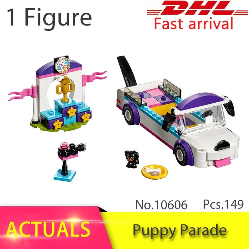 bela 10606 149Pcs Friends series Puppy pet dog parade Figure Model Building Blocks Bricks Girl Toys For Children Gift 41310