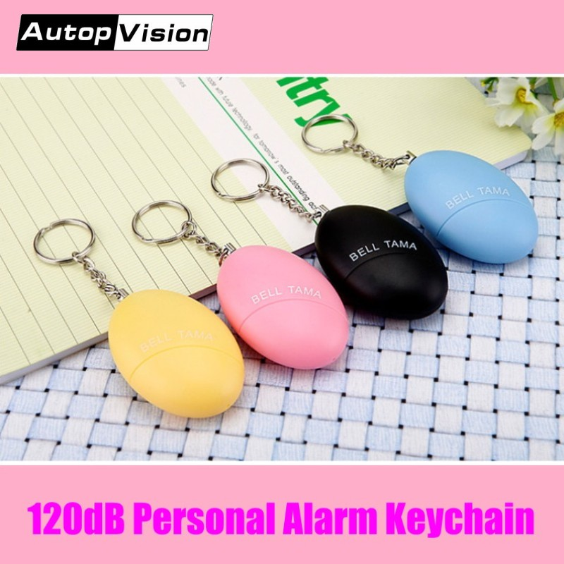 Wholesale 2018 New CE ROHS Approved Bell Tama Keychain Alarm 120DB Self Defense Anti-Wolf Personal Alarm Keychain For Women Kids
