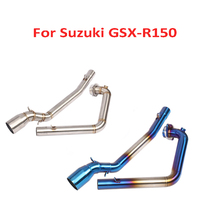 GSX-R150 Motorcycle Exhaust Pipe Mid Link Pipe Connect Tube Pipe Slip on Modified Link Tube for Suzuki GSX-R150 36 51mm modified motorcycle exhaust pipe stainless steel fried tube exhaust pipe for suzuki sfv650 gladius b king gsx s1000 f