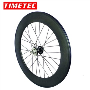 Image 5 - fixed gear carbon wheels flipflop carbon track wheelset  82mm depth 23mm width tubular wheels clincher single speed wheels