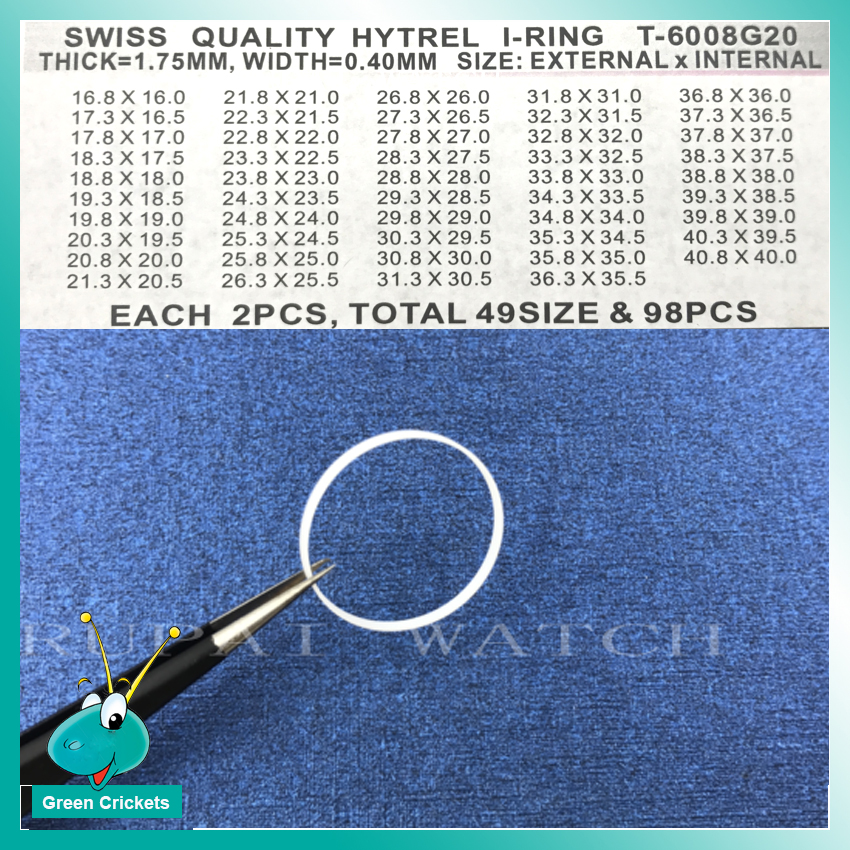 98pcs/box Assort Size Watch Crystal I Ring Gasket,1.75mm Thinckness I Ring for Watchmaker replacement parts